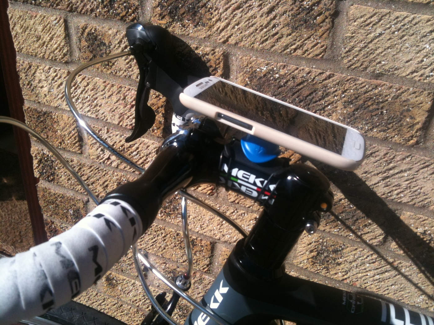 Phone mounted on my stem
