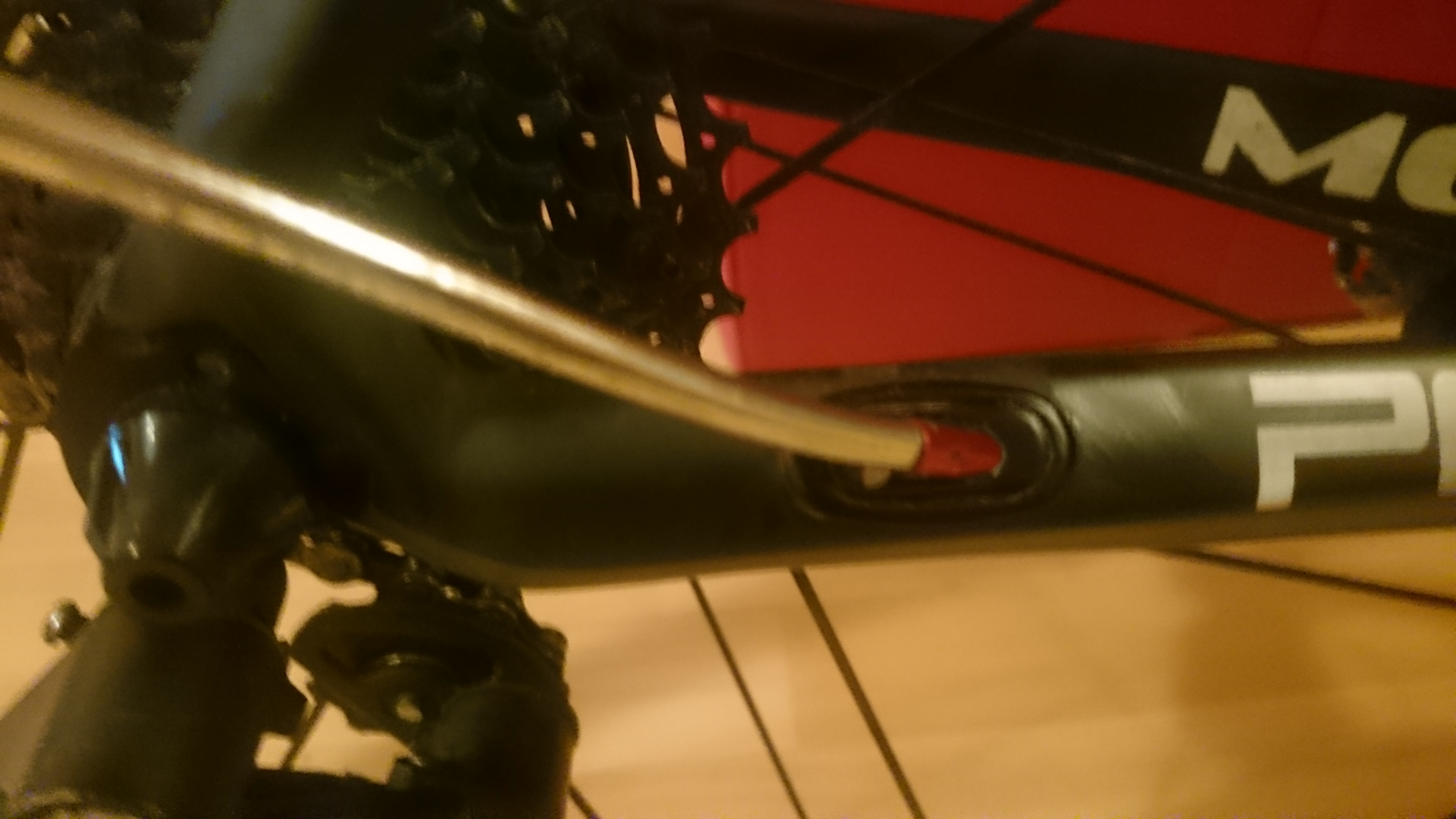 Replacing an internally routed gear cable